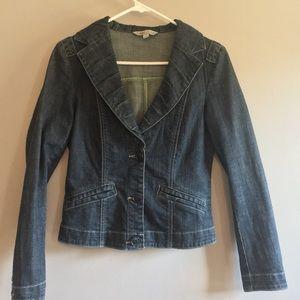 CAbi Denim Jean crop jacket coat Small